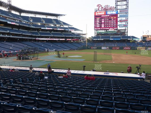 Citizens Bank Park Section 116 view