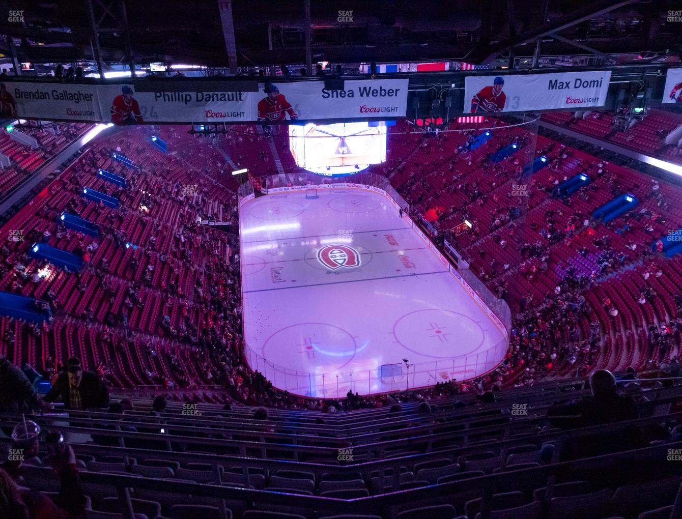 Montreal Canadiens at Bell Centre Section 411 View