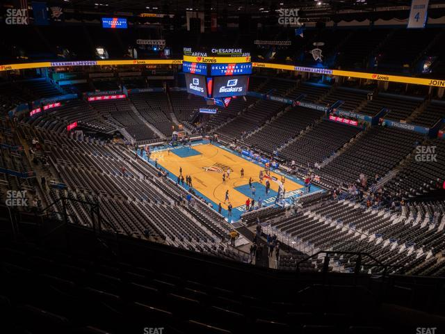 Chesapeake Energy Arena Section 304 view