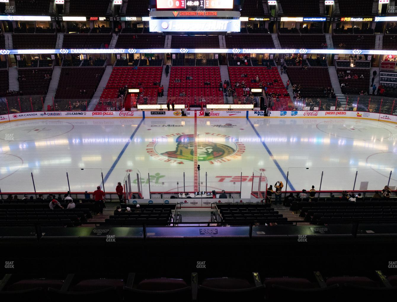 Ottawa Senators at Canadian Tire Centre Section 222 View