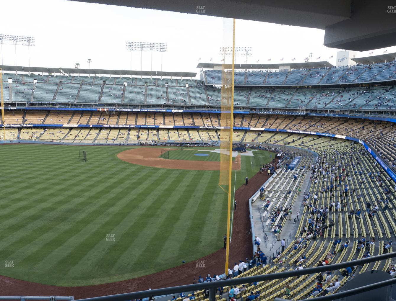 Los Angeles Dodgers at Dodger Stadium Section Club 261 View