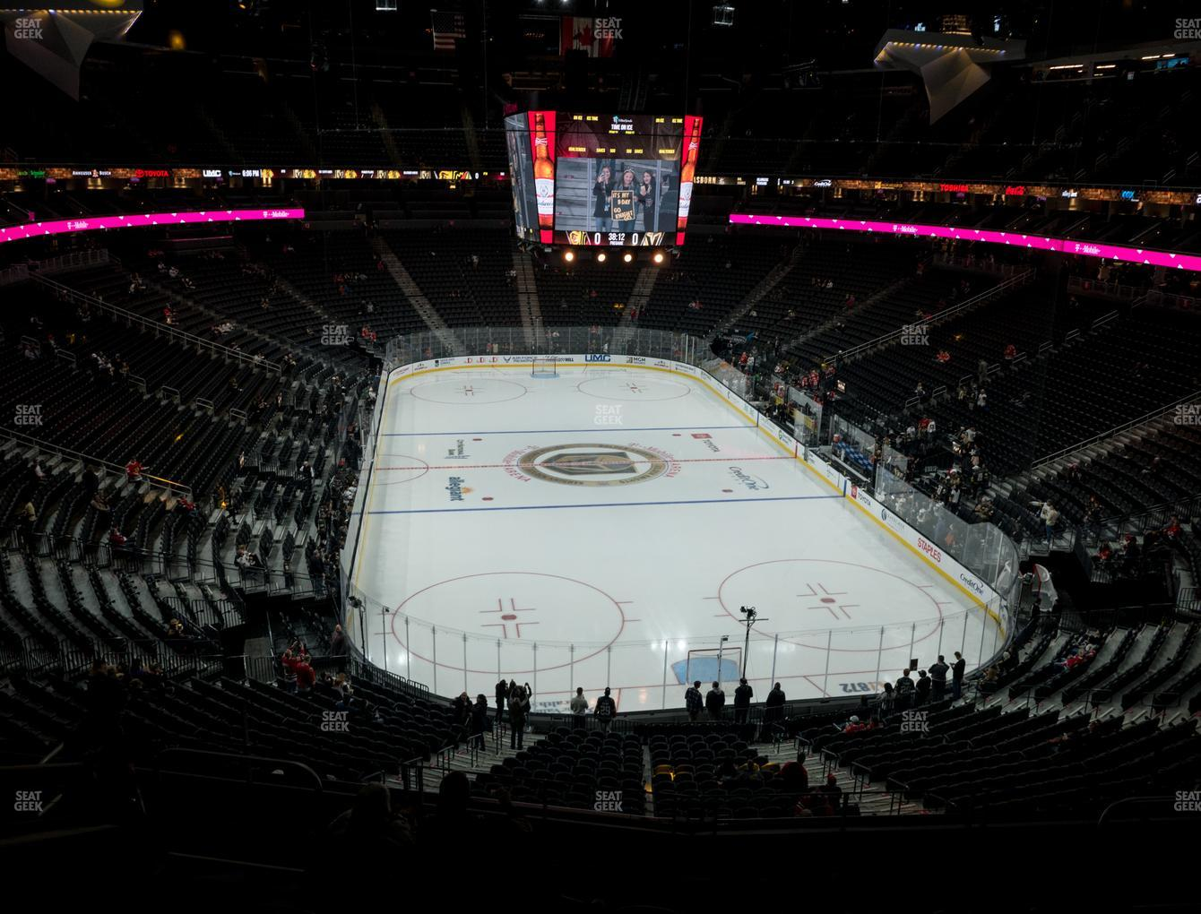 Vegas Golden Knights at T-Mobile Arena Section 120 View