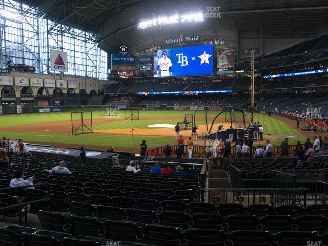 Minute Maid Park Section 116 view
