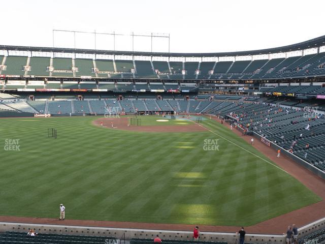 Oriole Park at Camden Yards Section 286 view