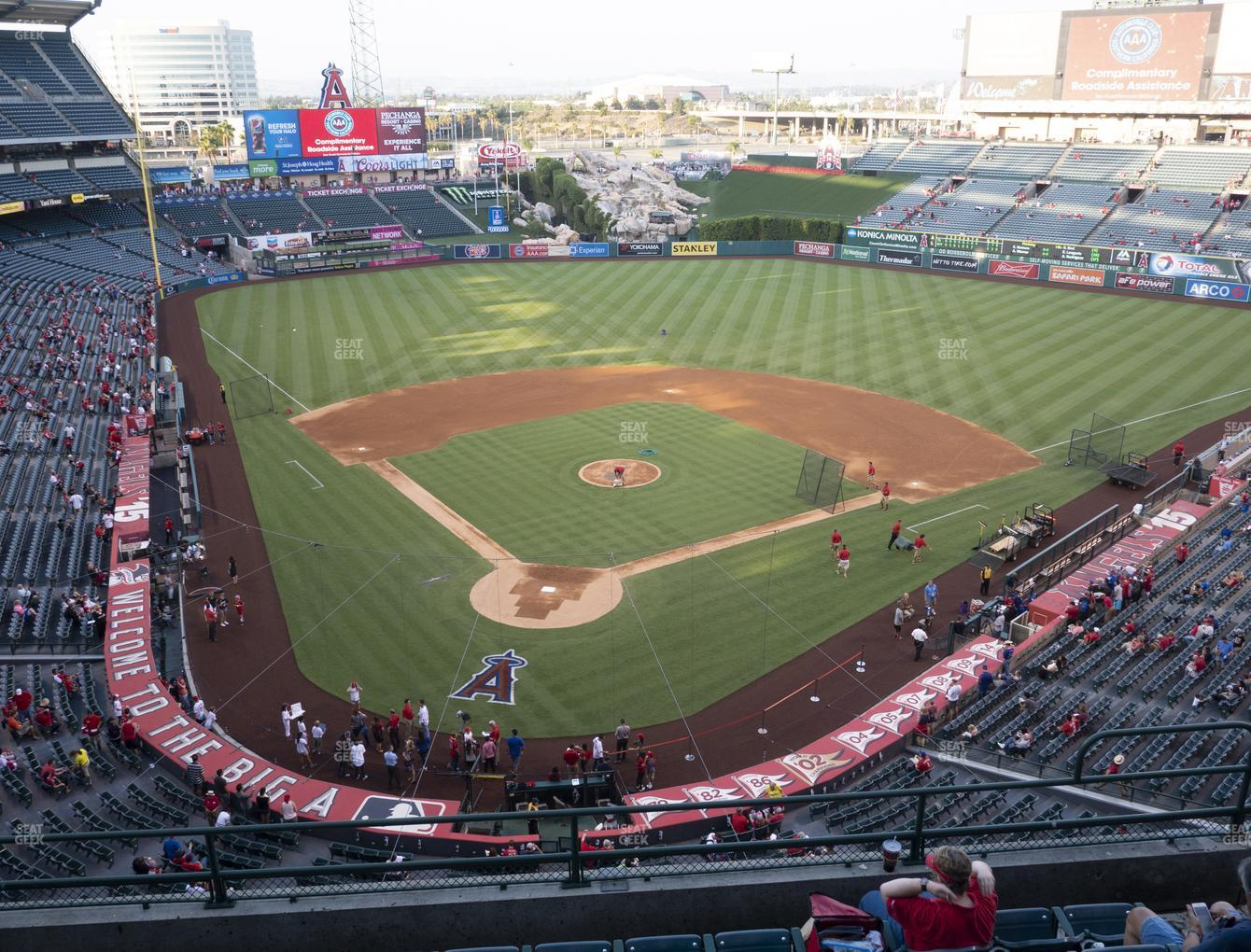 Los Angeles Angels at Angel Stadium of Anaheim Section 420 View