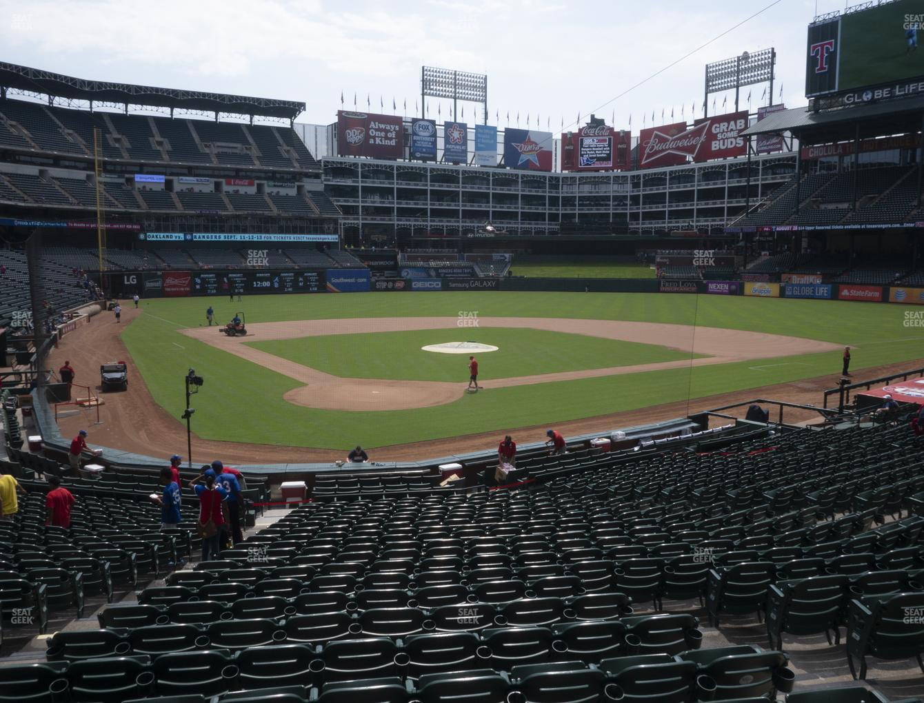 Texas Rangers at Globe Life Park Section 28 View