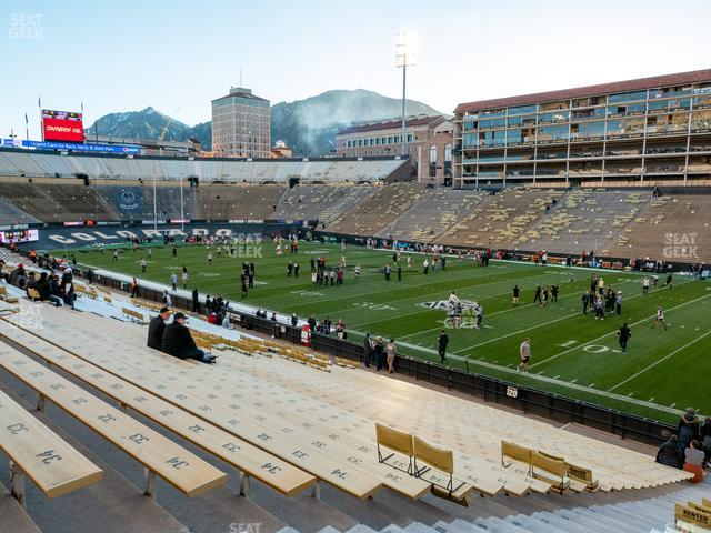 Folsom Field Section 121 view