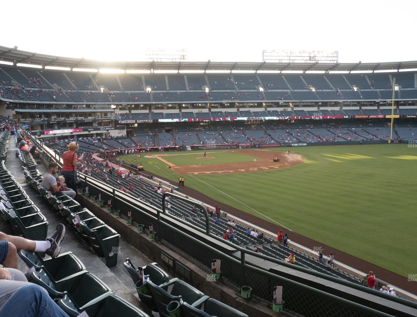 Los Angeles Angels at Angel Stadium of Anaheim Section 347 View