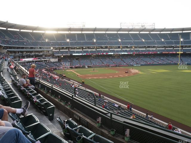 Angel Stadium of Anaheim Section 347 view