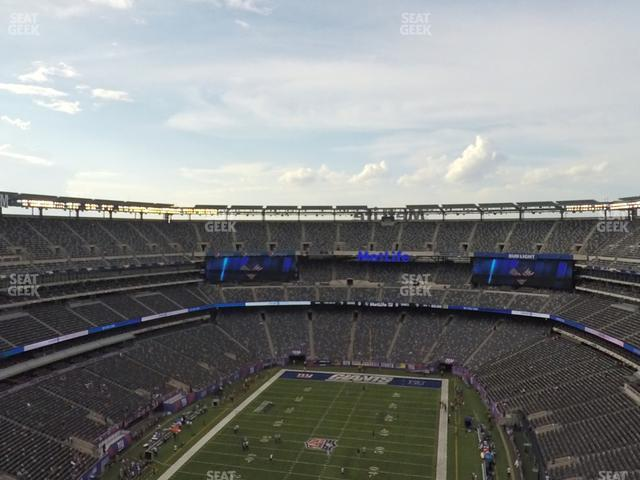 MetLife Stadium Section 324 view