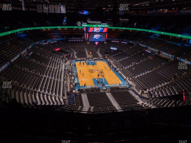 Chesapeake Energy Arena Section 317 view