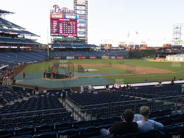 Citizens Bank Park Section 120 view