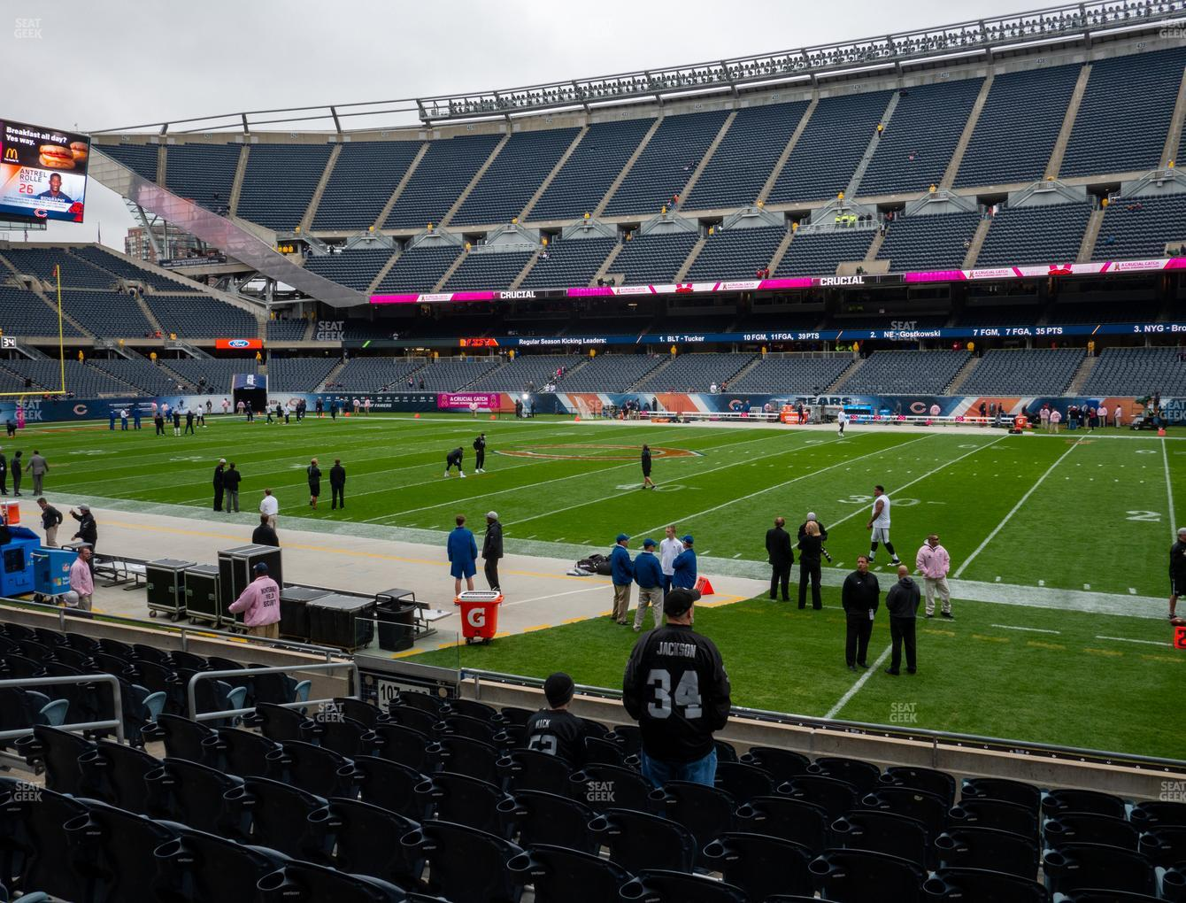 Chicago Bears at Soldier Field Section 106 View