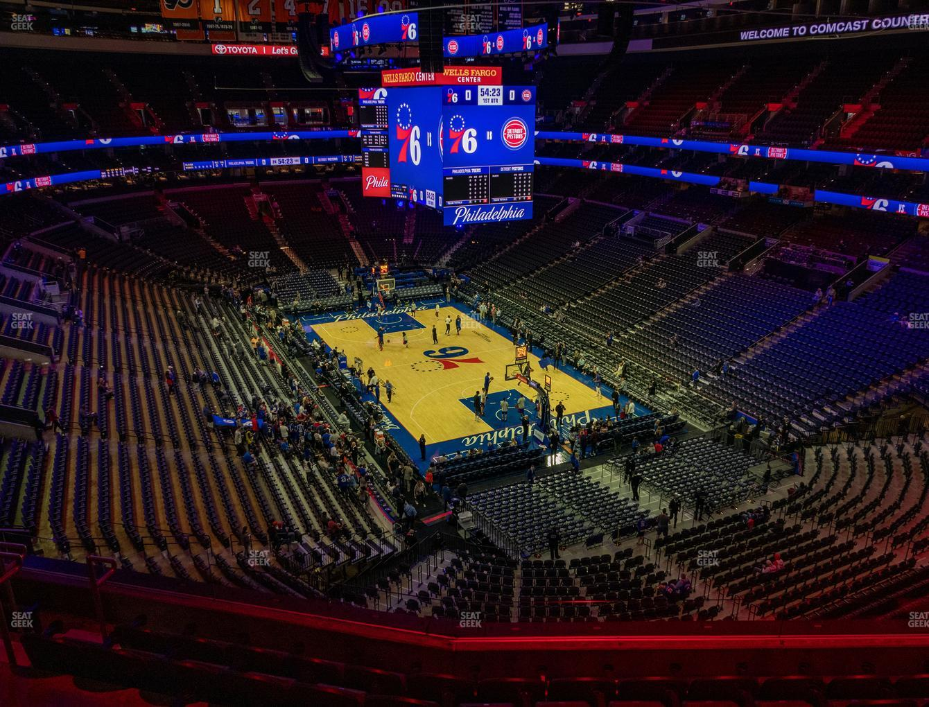 Philadelphia 76ers at Wells Fargo Center Section 205 A View