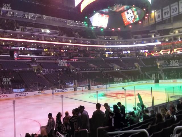 Staples Center Section 103 view