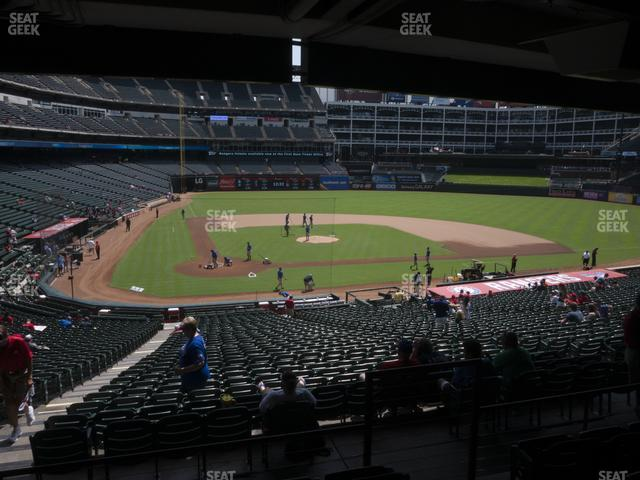 Globe Life Park Section 130 view