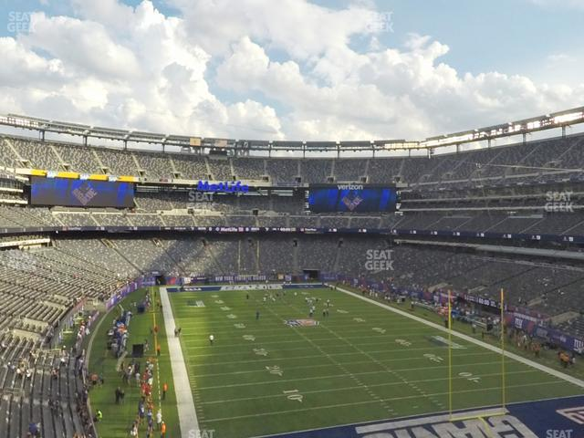 MetLife Stadium Section 204 view