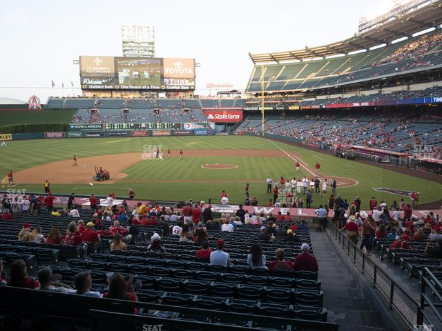 Angel Stadium of Anaheim Section 212 view