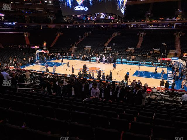 Madison Square Garden Section 108 view
