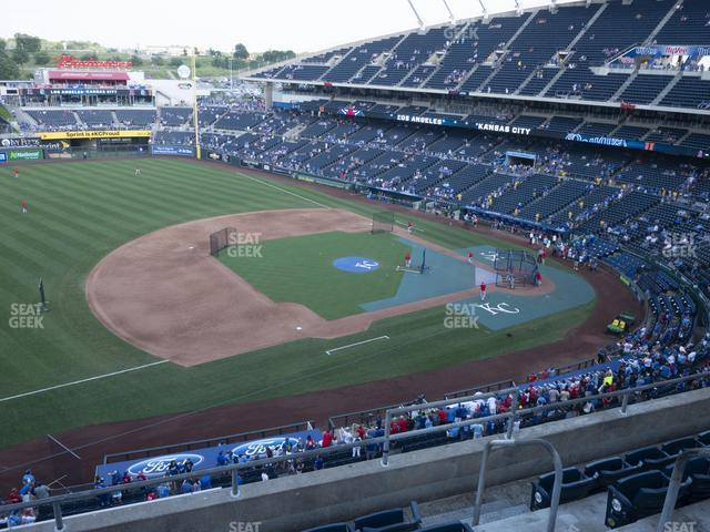 Kauffman Stadium Section 408 view