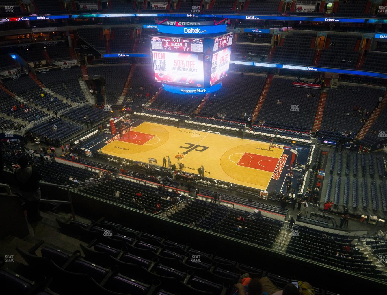 Washington Wizards at Capital One Arena Section 402 View