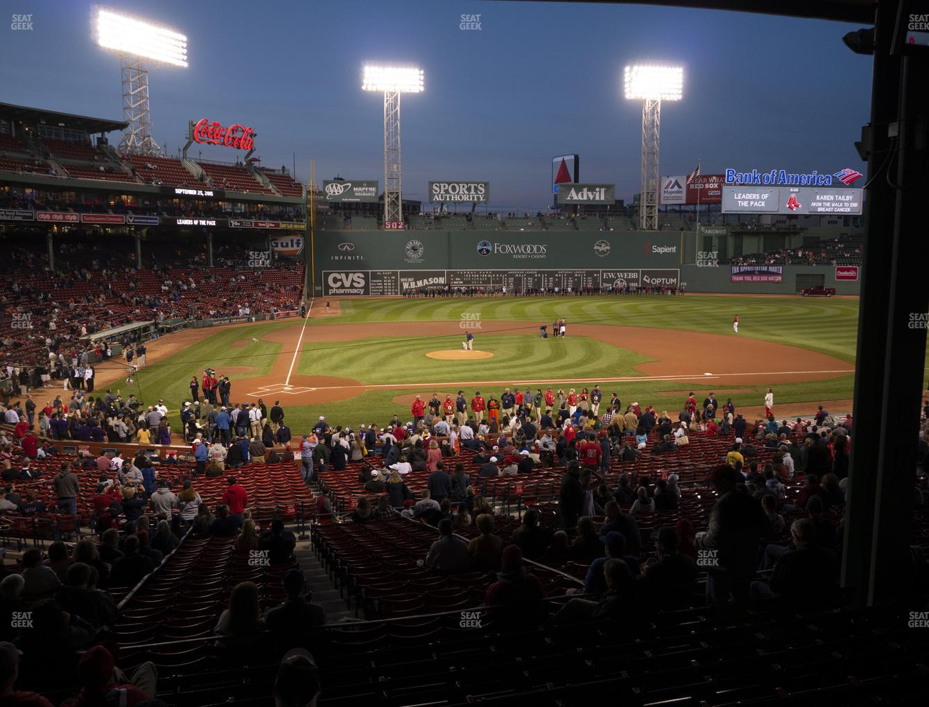 Boston Red Sox at Fenway Park Infield Grandstand 17 View