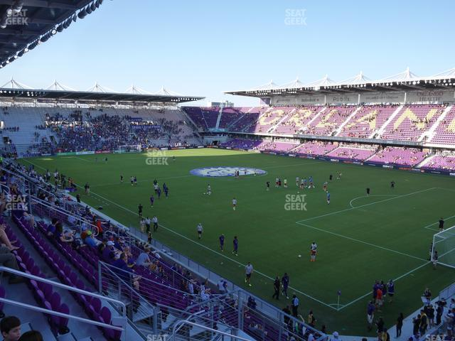 Exploria Stadium Section 109 view
