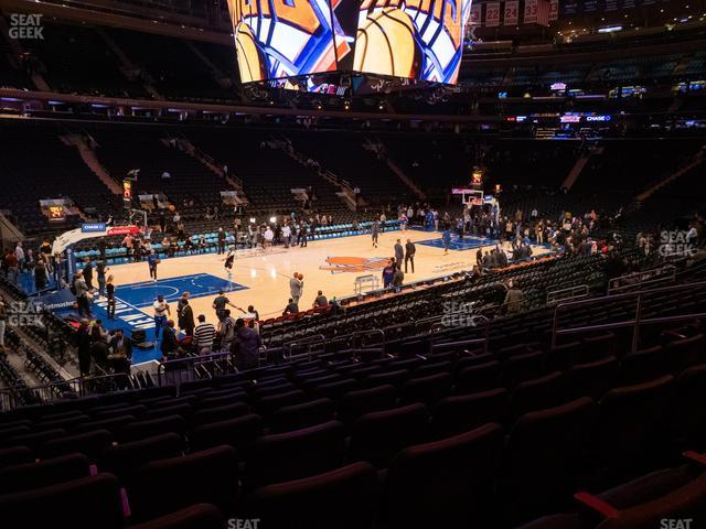 Madison Square Garden Section 105 view