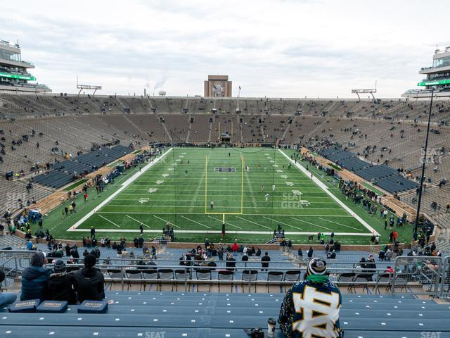 Notre Dame Stadium Section 119 view