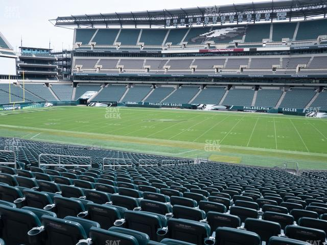 Lincoln Financial Field Section 102 view