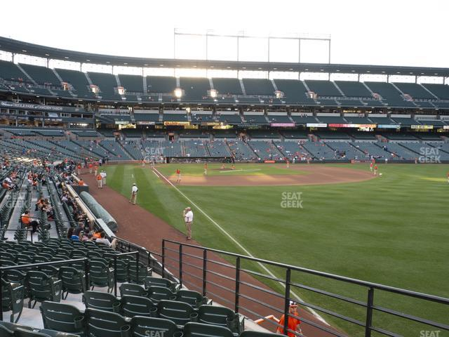 Oriole Park at Camden Yards Section 4 view