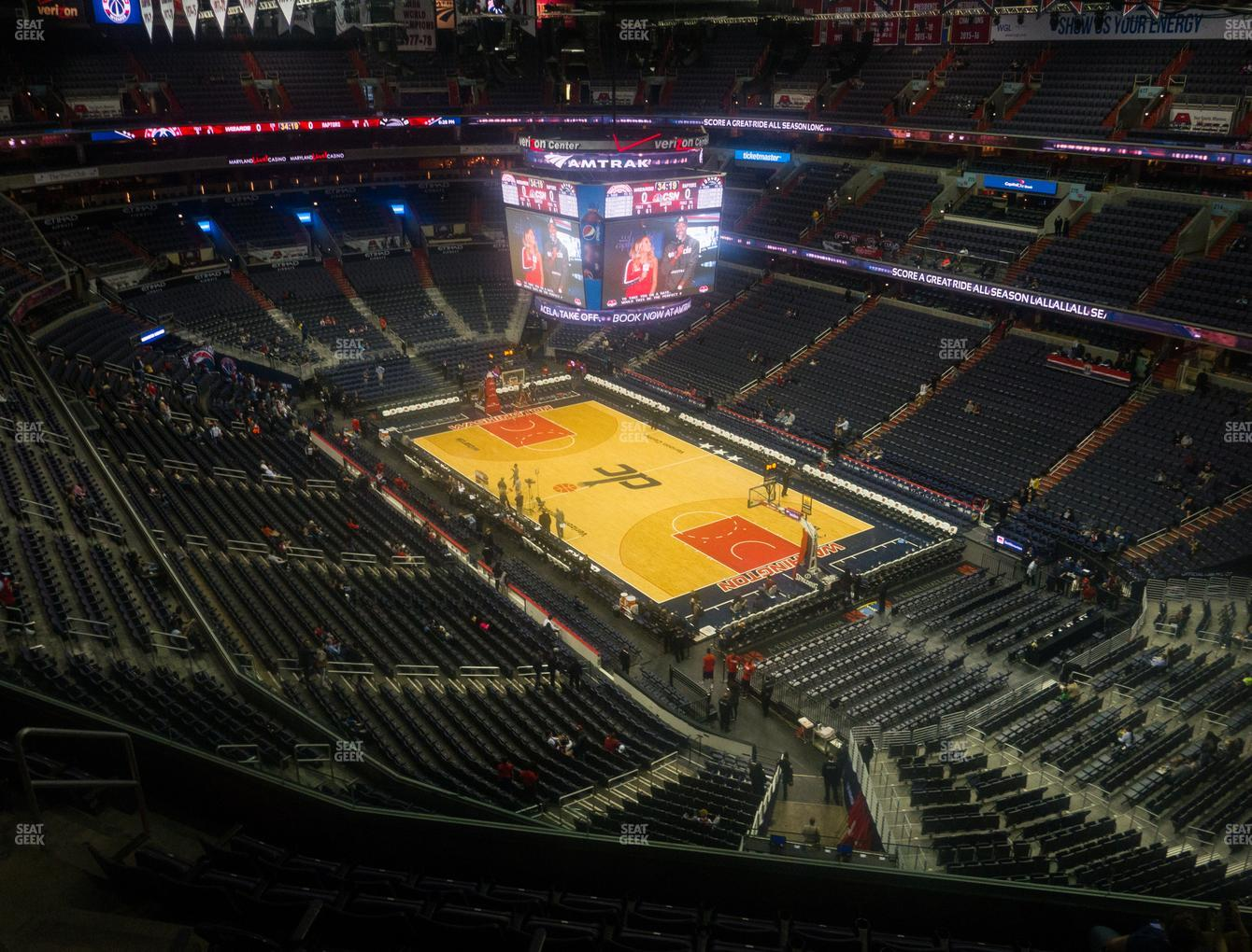Washington Wizards at Capital One Arena Section 405 View