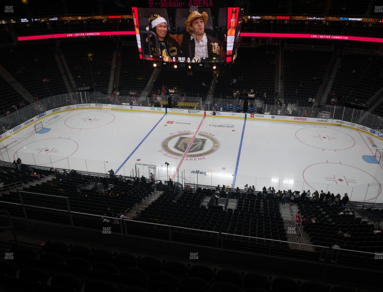 Vegas Golden Knights at T-Mobile Arena Section 224 View