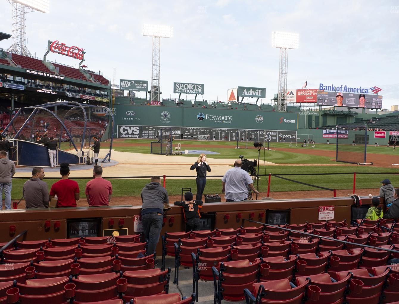 Boston Red Sox at Fenway Park Field Box 36 View