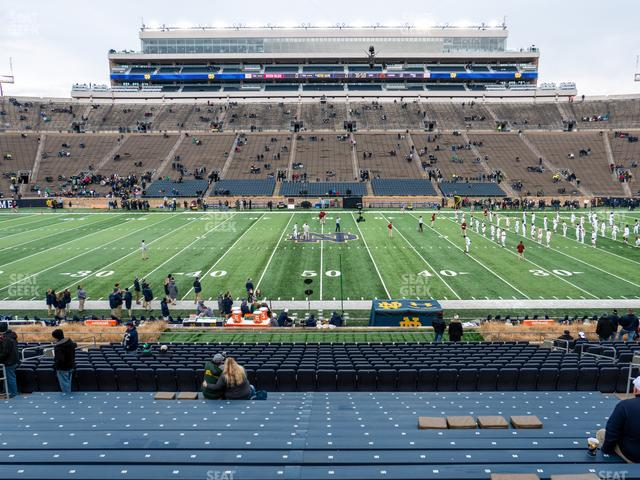 Notre Dame Stadium Section 28 view
