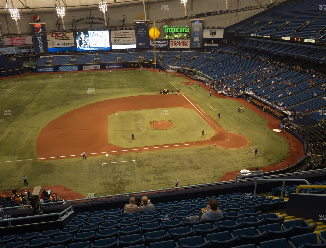 Tampa Bay Rays at Tropicana Field Section 311 View
