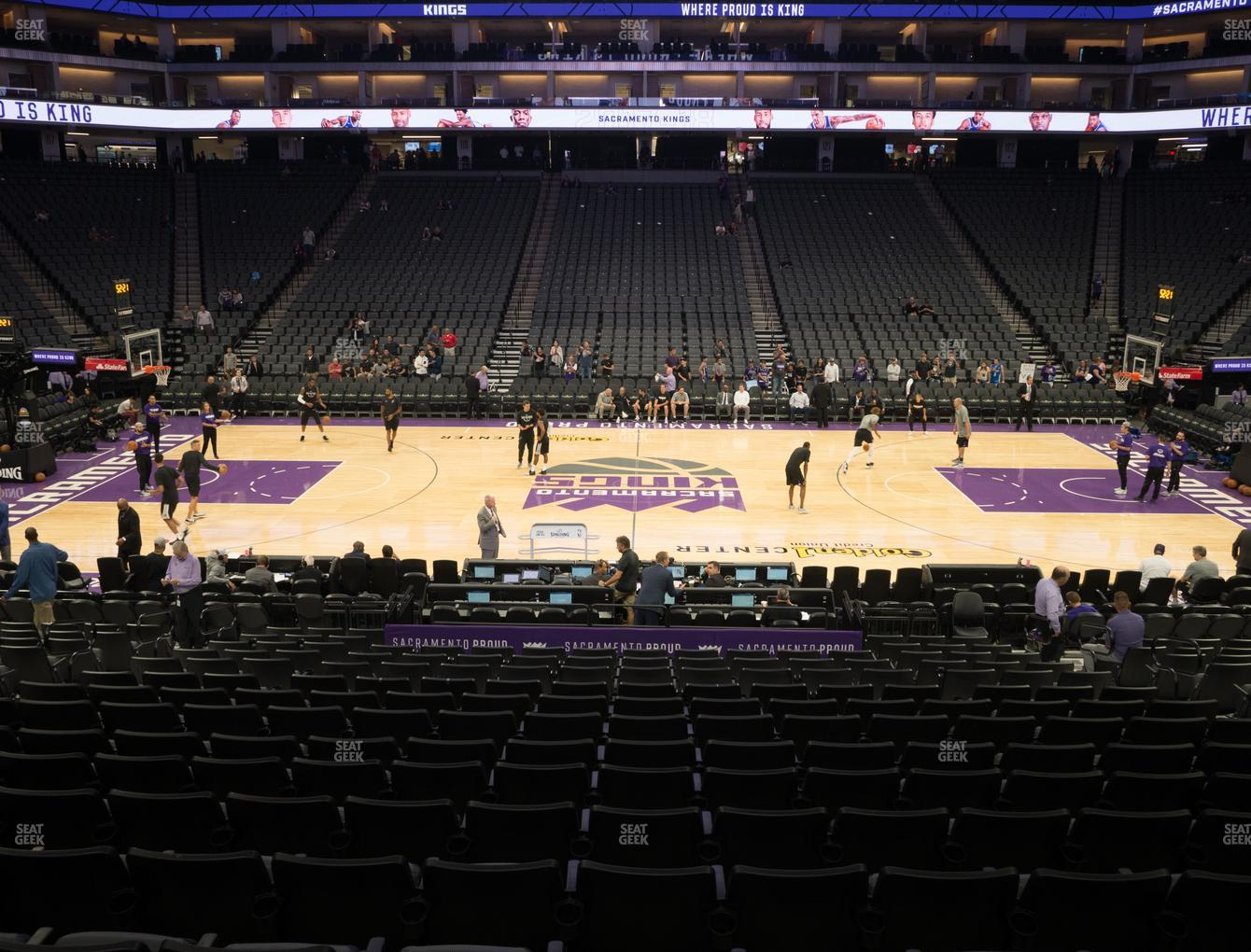 Sacramento Kings at Golden 1 Center Section 107 View