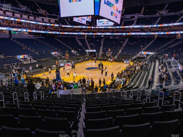 Chase Center Section 120 view