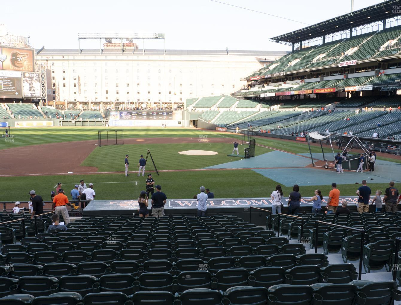 Concert at Oriole Park at Camden Yards Section 52 View