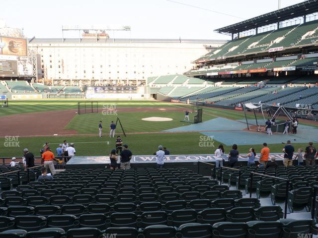 Oriole Park at Camden Yards Section 52 view