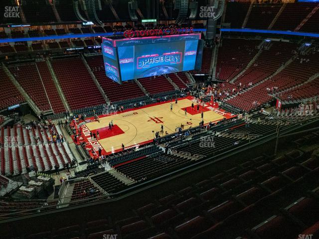 Toyota Center Section 429 view