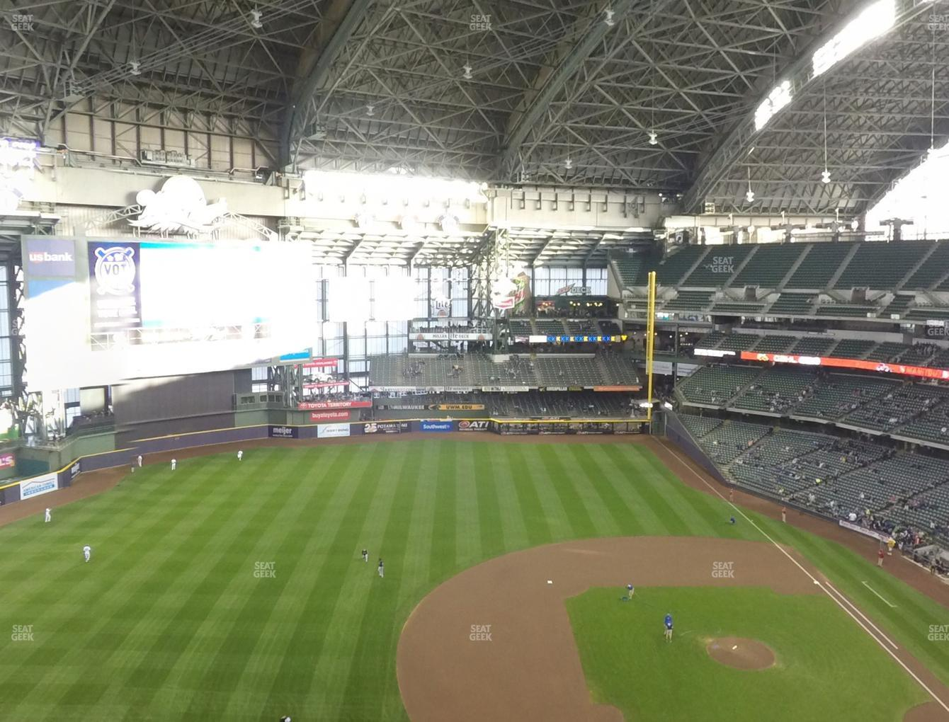 Milwaukee Brewers at Miller Park Section 430 View
