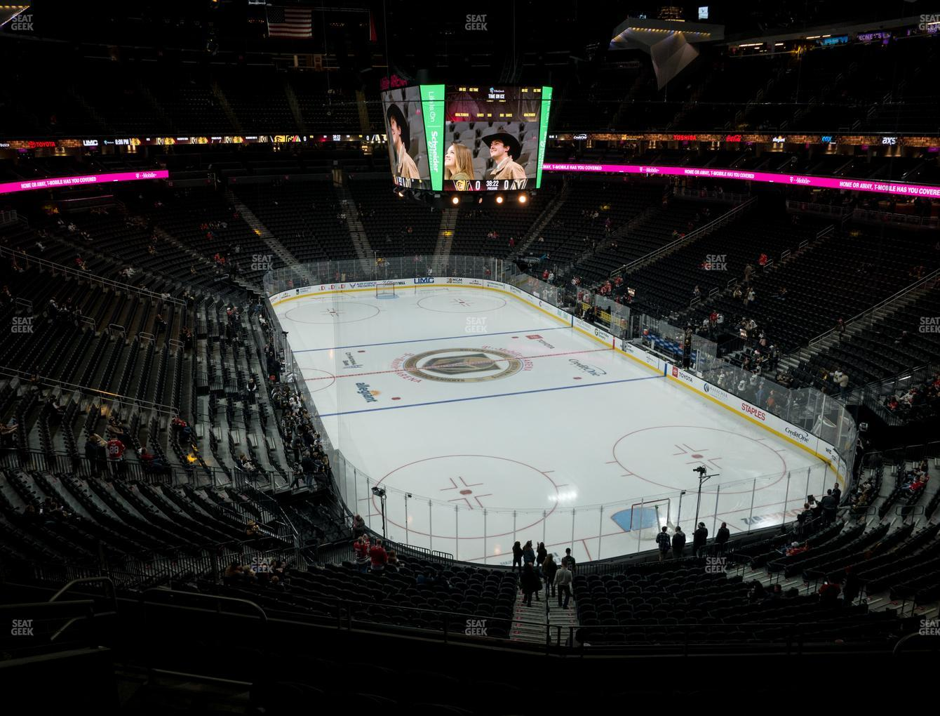 Vegas Golden Knights at T-Mobile Arena Section 119 View