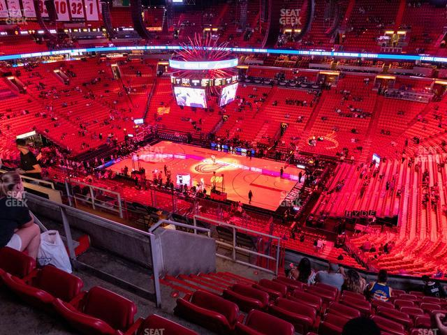 American Airlines Arena Section 322 view