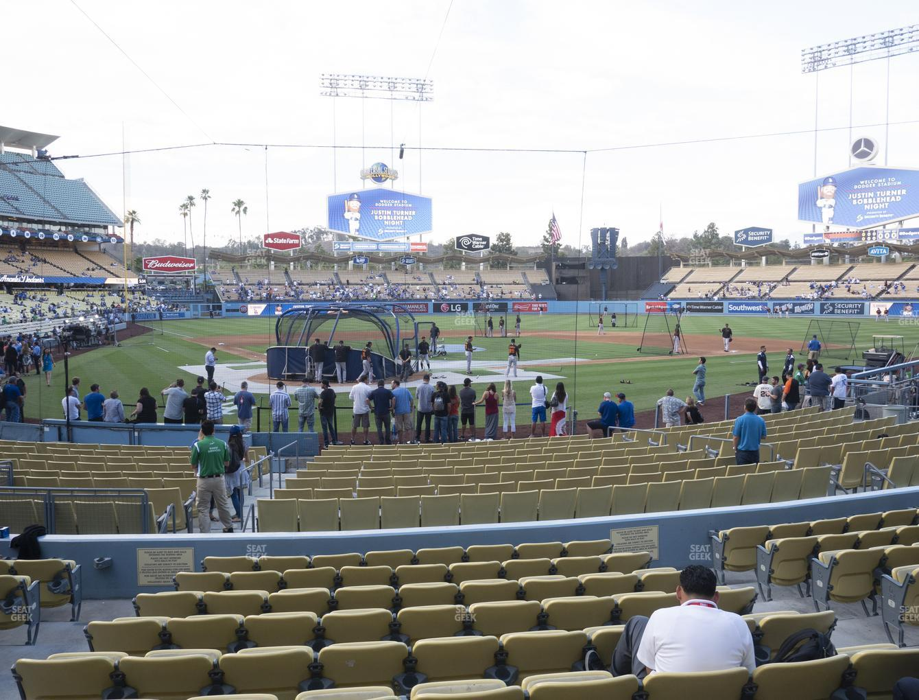 Los Angeles Dodgers at Dodger Stadium Field Box 6 View