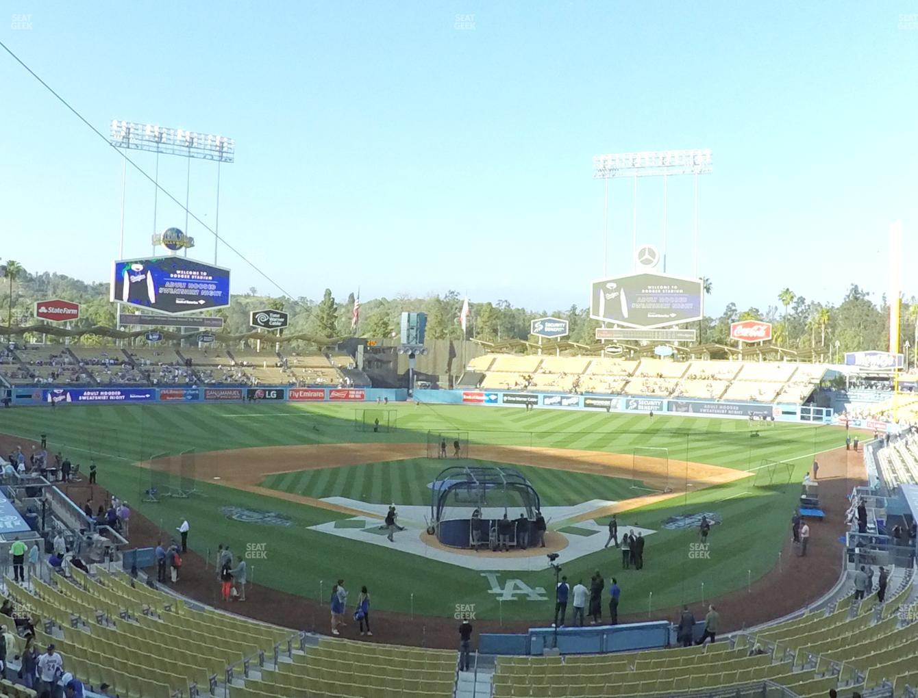 Los Angeles Dodgers at Dodger Stadium Loge Box 103 View