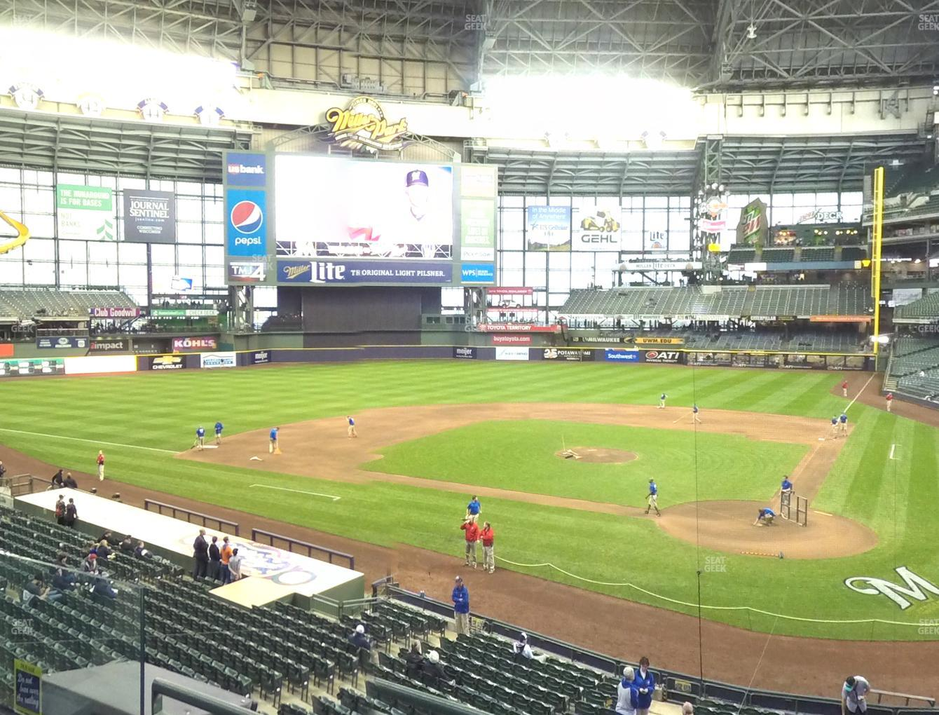 Concert at Miller Park Section 221 View