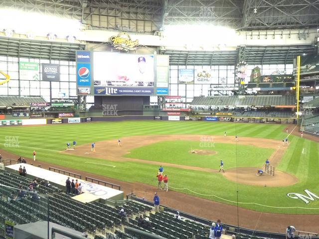 Miller Park Section 221 view