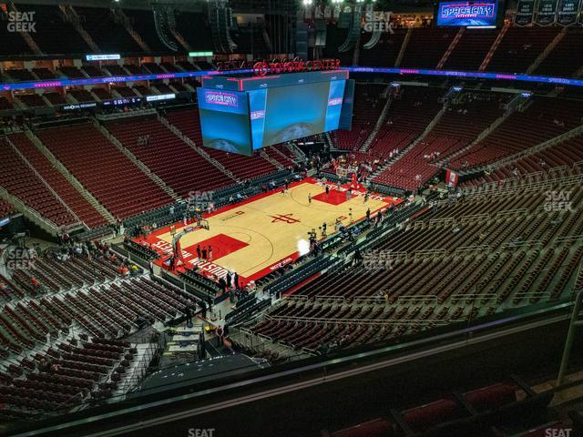 Toyota Center Section 431 view