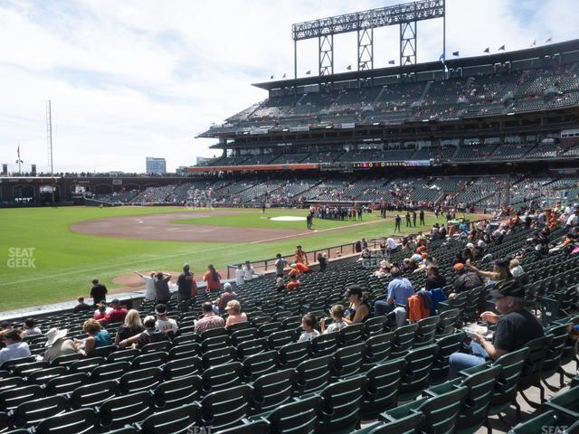Oracle Park Section 128 view